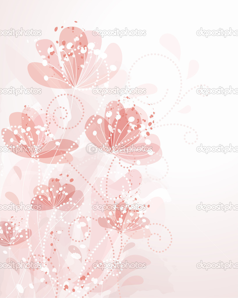 Romantic Flower Background   Stock Vector #6105106