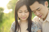 Romantic asian couple — Stock Photo