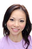 Asian girl smiling — Stock Photo