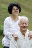 Asian senior couple — Stock Photo