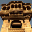Old ancient haveli at jaisalmer fort — Stock Photo