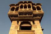 Old ancient haveli at jaisalmer fort — Stock Photo