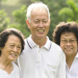 Asian senior adult family — Stock Photo #6172085