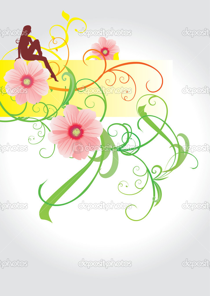 Abstract girl and flowers freedom and romance stock photo cherju 5439079 - Flowers that mean freedom ...