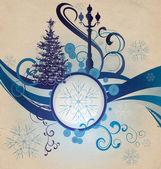 Grange abstracte golf stadslichten van kerstmis — Stockfoto