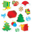 Royalty-Free Stock Photo: Vector set of color christmas stickers