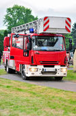 Fighting fire truck — Stock Photo