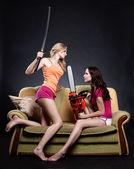Girls confrontation. — Stock Photo
