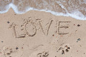 Love on sand — Stock Photo