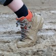 Stock Photo: Shoe in mud