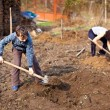 Mother and son working the land — Stock Photo #5473318