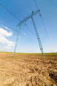 линии электропередачи — Стоковое фото