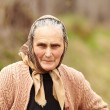 Candid portrait of a rural senior woman — Stock Photo