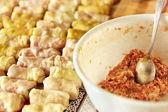 Sarmale, en rumänsk traditionell maträtt — Stockfoto