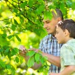 Father and son outdoor — Stock Photo #5686345
