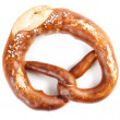 Pretzel shaped bread with salt - Stock Photo