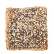 Whole grain bread with poppy and flax seeds - Stock Photo
