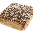 Stock Photo: Whole grain bread with poppy and flax seeds