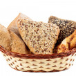 Variety of bread in a basket — Stock Photo