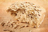 Whole grain bread with sunflower seeds — Stock Photo