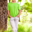 Young man in the forest — Stock Photo #5702886