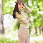 Beautiful latin girl outdoor — Stock Photo #5748484