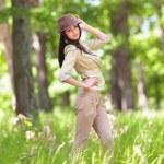 Beautiful latin girl outdoor — Stock Photo #5748486