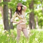 Beautiful latin girl outdoor — Stock Photo #5748488