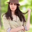 Closeup portrait of a beautiful girl outdoor — Stock Photo #5748492