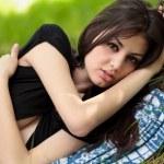 Sensual girl outdoor — Stock Photo #5748528