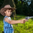 Cute kid playing cowboy — Stock Photo #5798595