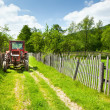 Old tractor in countryside — Stock Photo