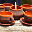 Ceramic pottery at Horezu, Romania — Stock Photo #5827763