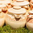 Ceramic pottery at Horezu, Romania — Stock Photo #5827775