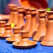 Ceramic candle holders - Stock Photo