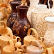 Ceramic pottery at Horezu, Romania — Stock Photo #5827812