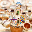 Traditional Romanian pottery at Horezu, Romania — Stock Photo