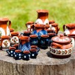 Ceramic pottery at Horezu, Romania — Stock Photo #5827836