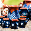 Ceramic pottery at Horezu, Romania — Stock Photo