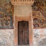 Ancient church door — Stock Photo