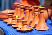 Ceramic candle holders — Stock Photo