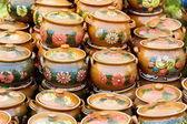 Ceramic pottery at Horezu, Romania — Stock Photo