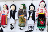 Small traditional puppets — Foto de Stock