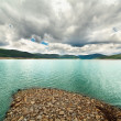 Landscape from Vidra Lake, Romania - Stock Photo