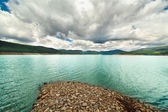 Landscape from Vidra Lake, Romania — Stock Photo