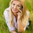 Stock Photo: Young businesswoman outdoor