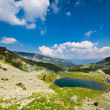 Stock Photo: Glacial lakes Vidal and Pencu in Parang mountains, Romania