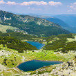 Lake Vidal and Calcescu in Parang mountains - Stock Photo