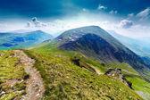 Transalpina silniční a urdele vrchol v rumunsku — Stock fotografie