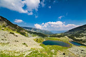 Glacial lakes Vidal and Pencu in Parang mountains, Romania — Stockfoto